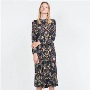 Zara Floral Print Dress, Sz XS